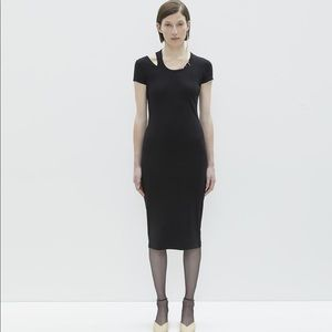 BNWT Helmut Lang Picot Edge Slash Dress